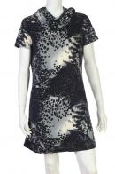 Шикарное серо-черное платье с крутым орнаментом