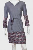 Шикарное серое платье с орнаментом от EARTHBOUHD