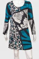 Шикарное женское платье с интересным принтом