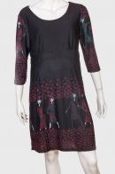 Шикарное женское платье с интересным принтом от Le Grahier