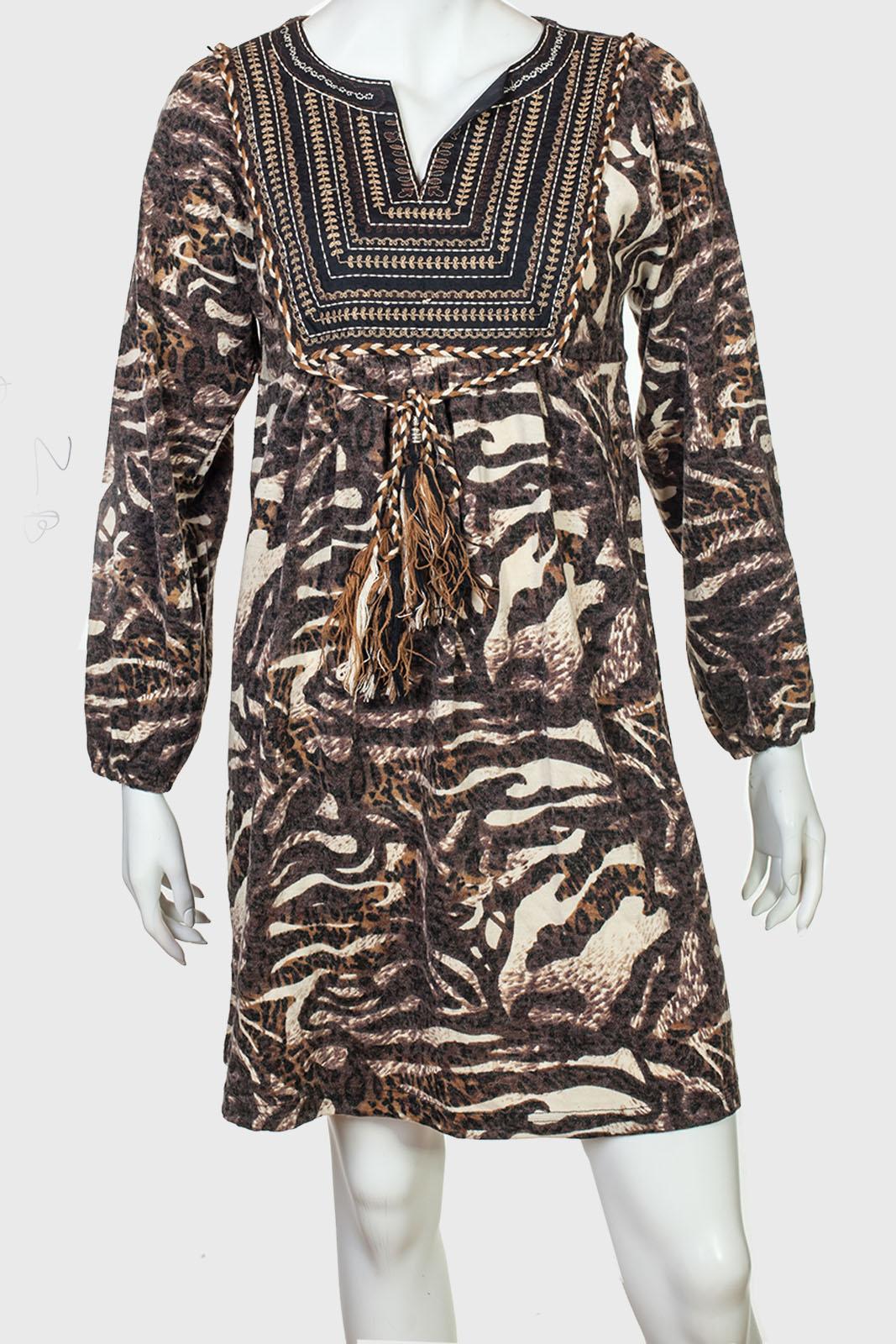 Шикарное женское платье с темным принтом от ZB