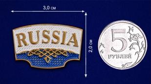 "Шильдик ""Russia"" - размер"