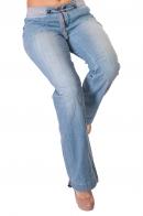Широкие женские джинсы Arizona с резинкой на талии.
