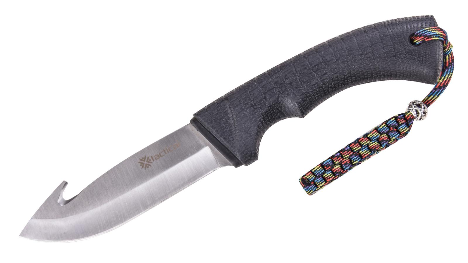 Шкуросъемный разделочный нож Tactical с темляком