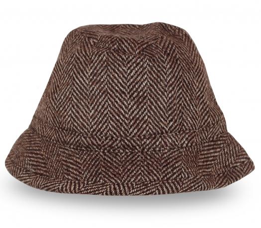 Шляпа пестро-коричневого цвета