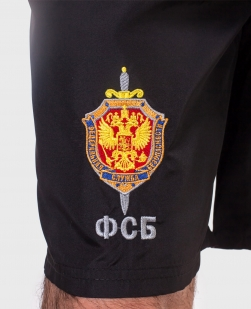 Мужские шорты с лампасами и эмблемой ФСБ