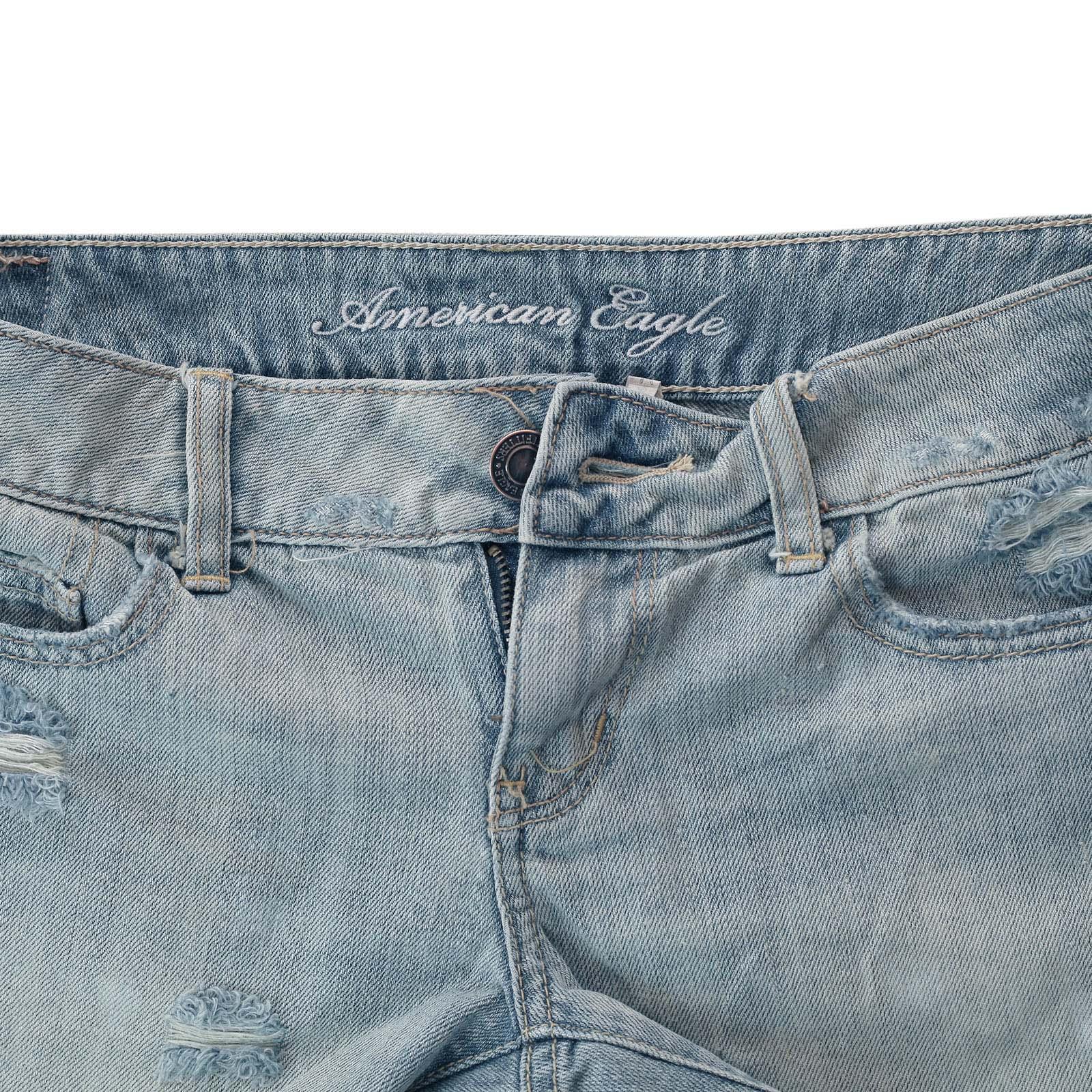 Джинсовые шортики American Eagle - обрезанные затёртые джинсы из крутого материала за 45 $ в магазинах Америки