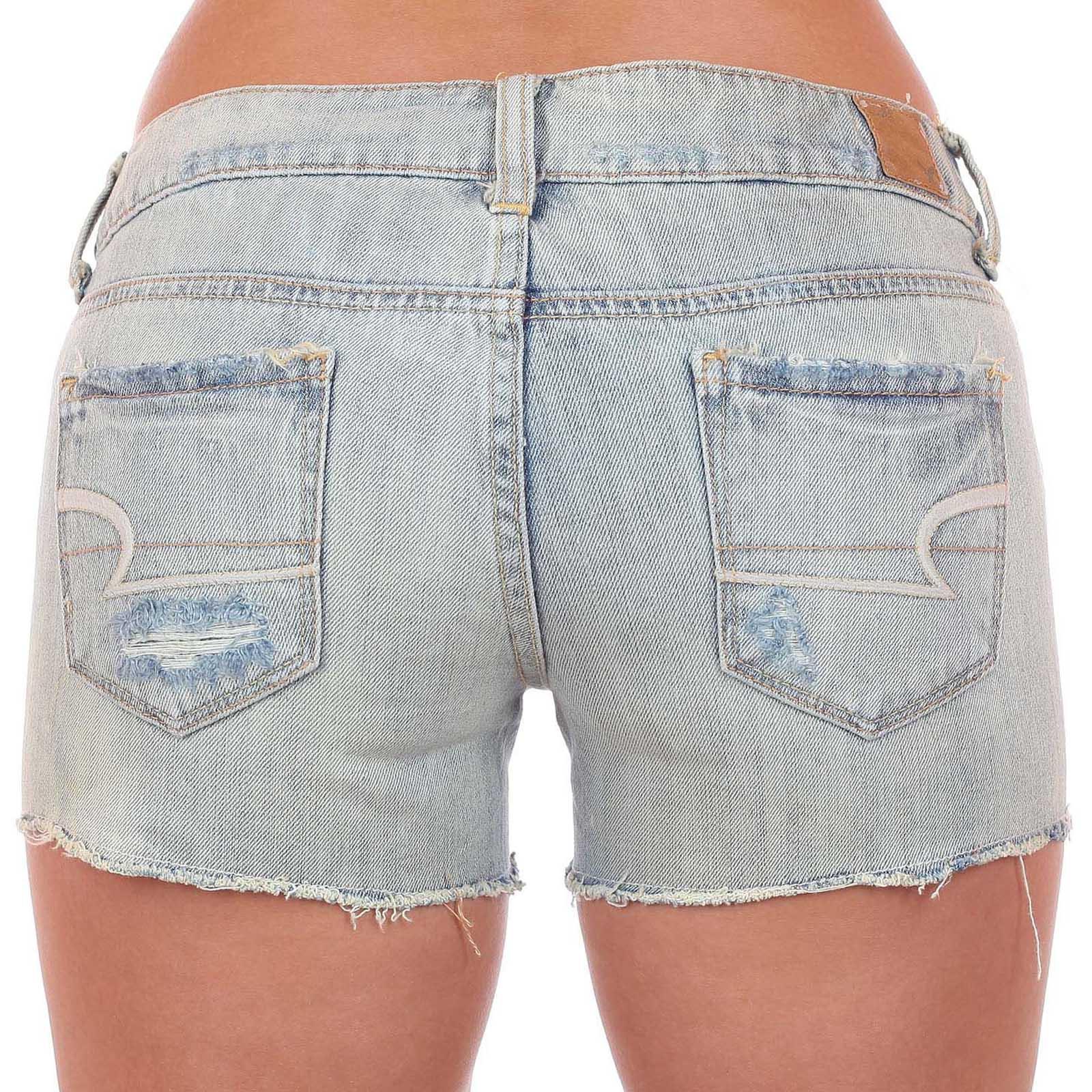 Шортики American Eagle - обрезанные затёртые джинсы из крутого материала за 45 $ в магазинах Америки с доставкой
