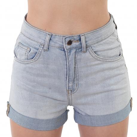 Женские джинсовые шорты с отворотом