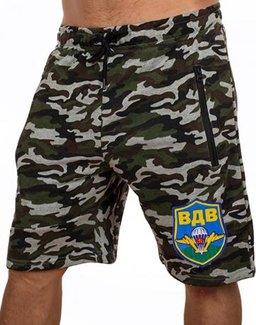 Распиаренные шорты-камуфляж New York Athletics с символикой ВДВ