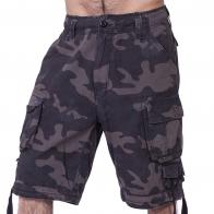 Мужские шорты бермуды Brandit в камуфляже Woodland.