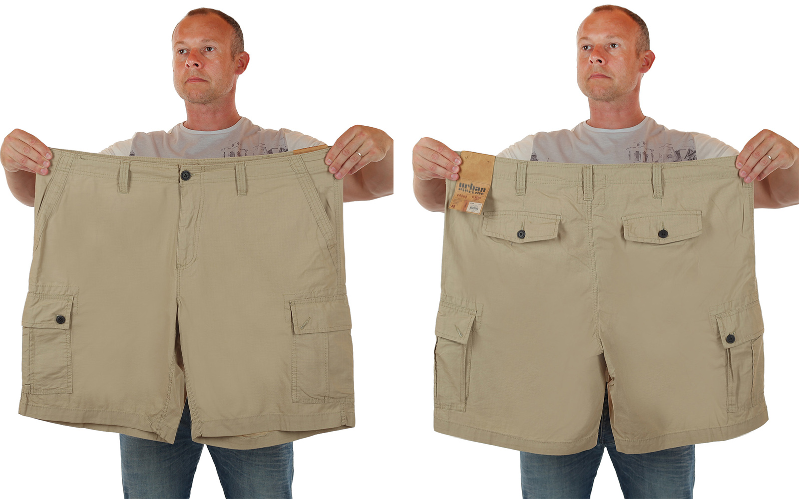 Заказать шорты-баталы для достойных больших мужчин от Urban Pipeline
