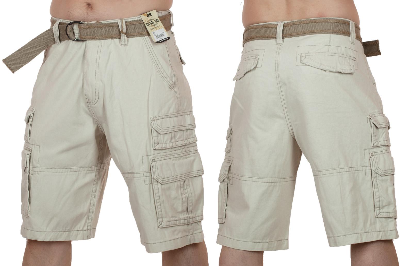 Заказать мужские хлопковые шорты (Iron Co., США)
