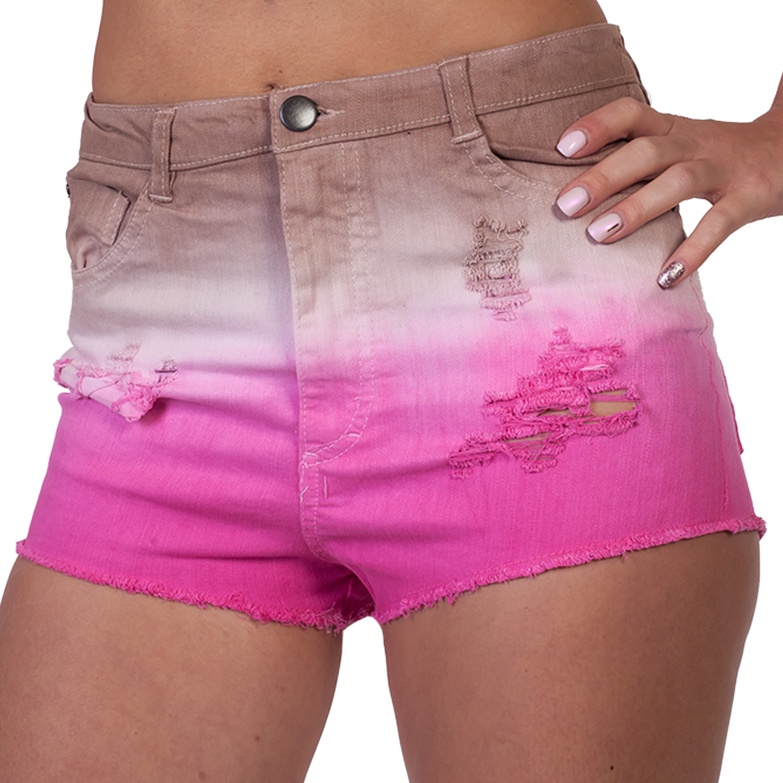 Потертые женские шорты Fashion Against