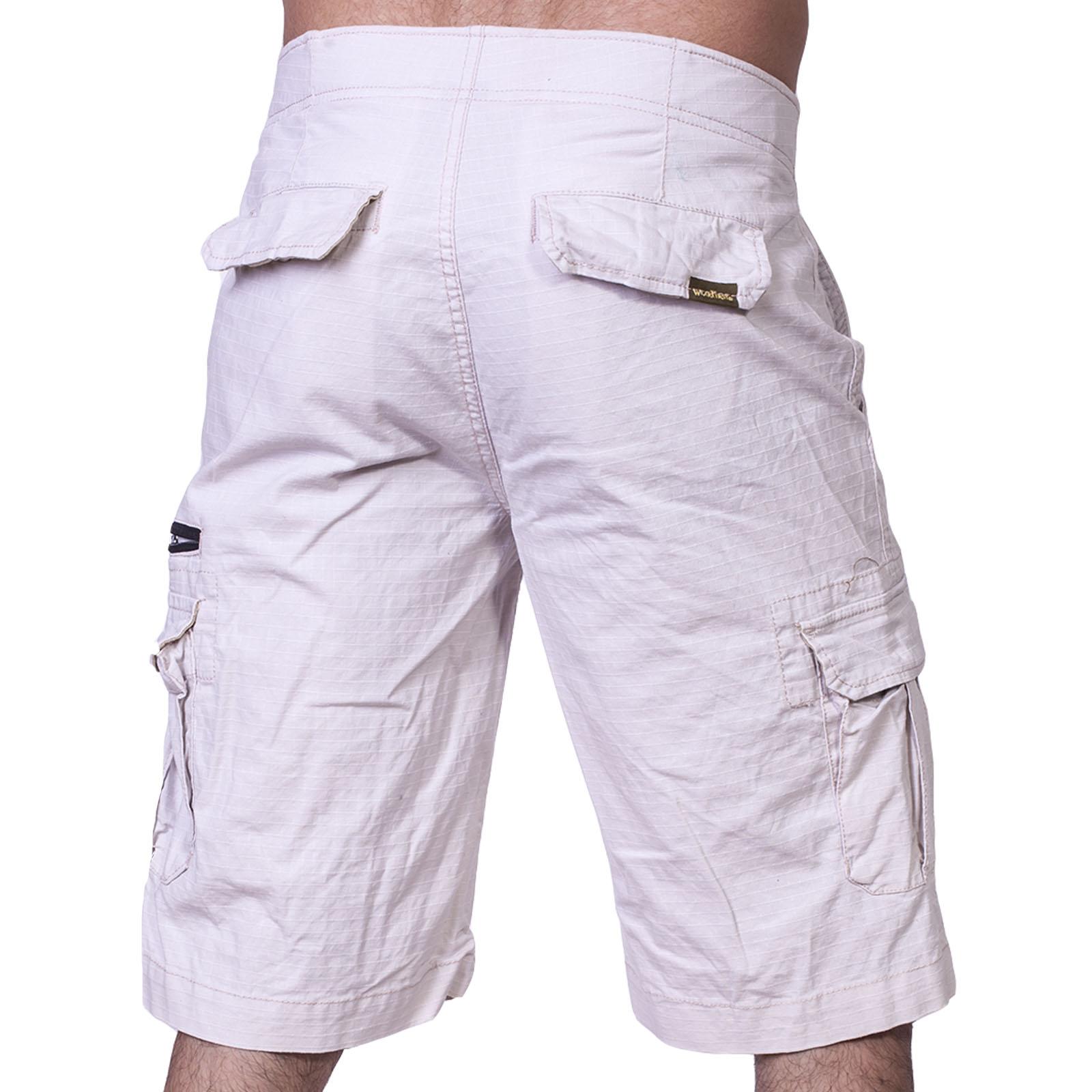 Купить на сайте Военпро мужские шорты карго WEAR FIRST белого цвета