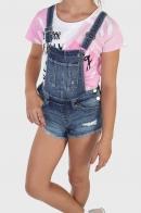 Детские джинсовые шорты-комбинезон