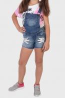 Детские джинсовые шорты комбинезон