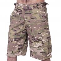 Мужские хлопковые шорты Mil-Tec в камуфляже MultiCam.