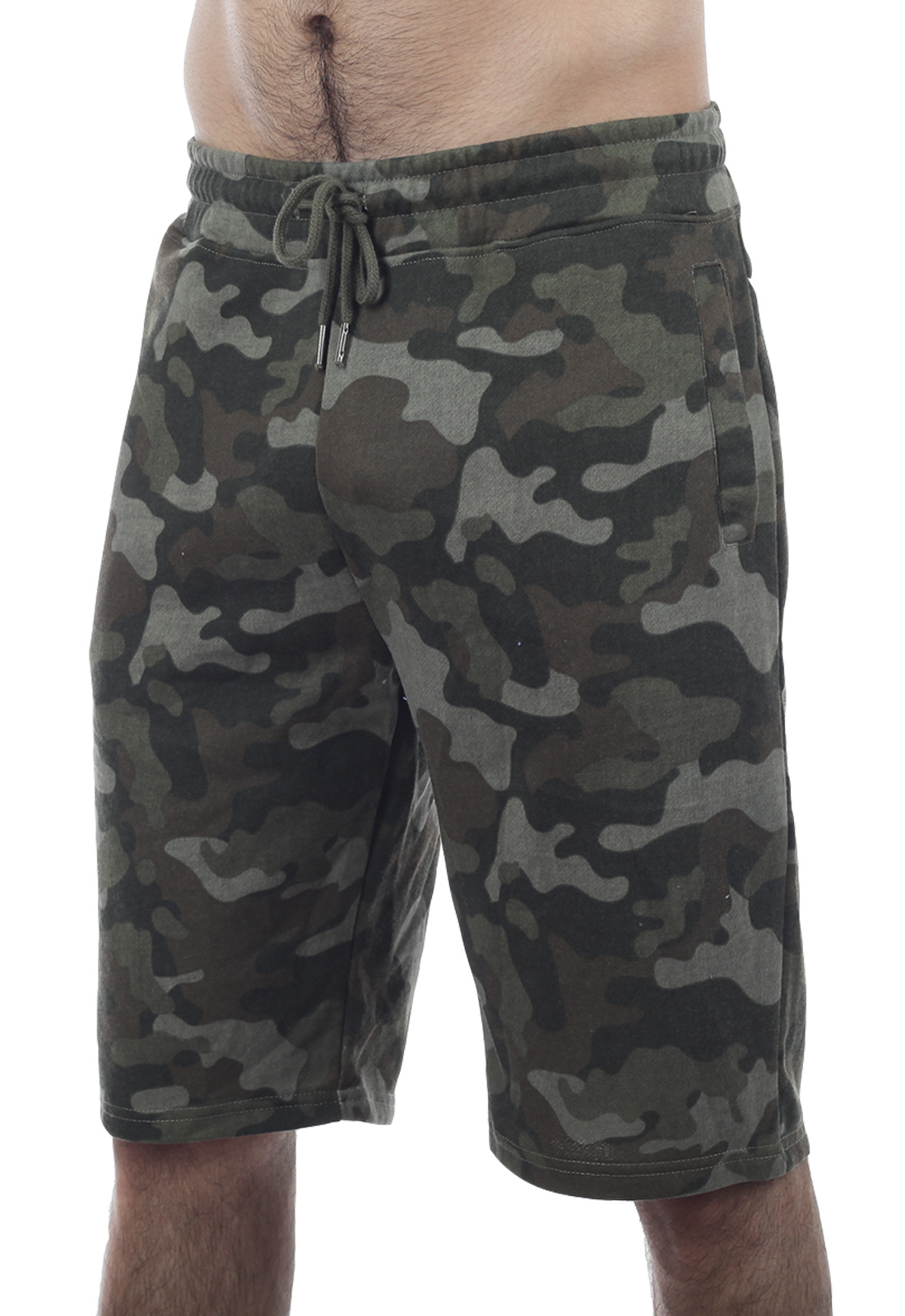 Мужские хлопковые шорты милитари IZ-XO4-ARMY IZZUE.