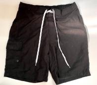 Шорты мужские черного цвета с белым шнурком