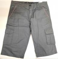 Шорты мужские серые с накладными карманами