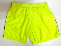 Шорты мужские ярко-лимонные с лампасами