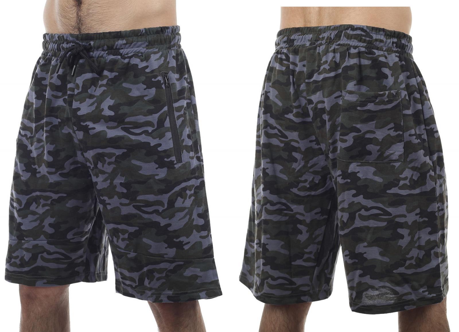 Объемные мужские шорты-камуфляж New York Athletics