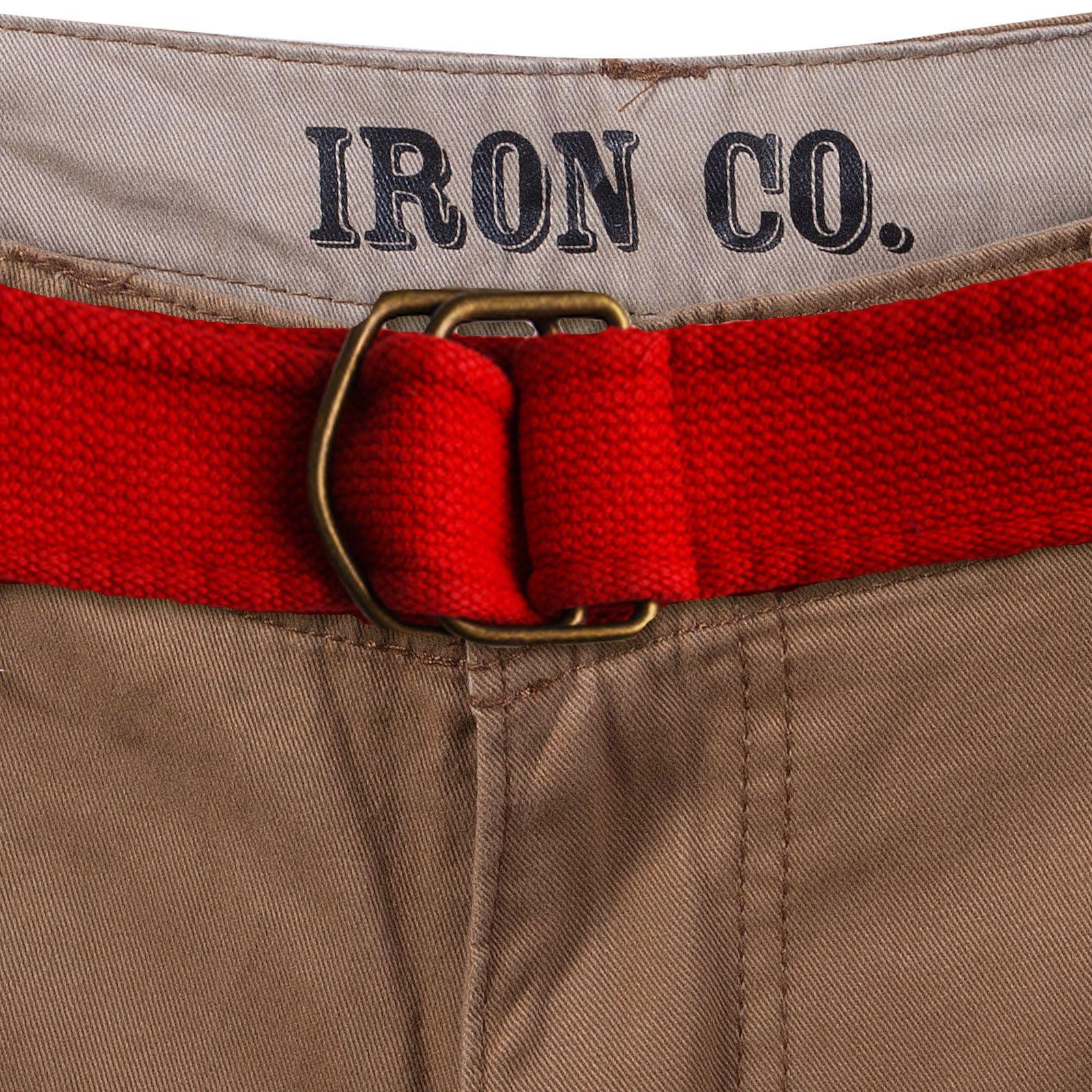 Заказать шорты с красным ремнем