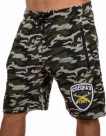 Для ВСЕХ Спецслужб России! Камуфляжные шорты с вышитым принтом СПЕЦНАЗ