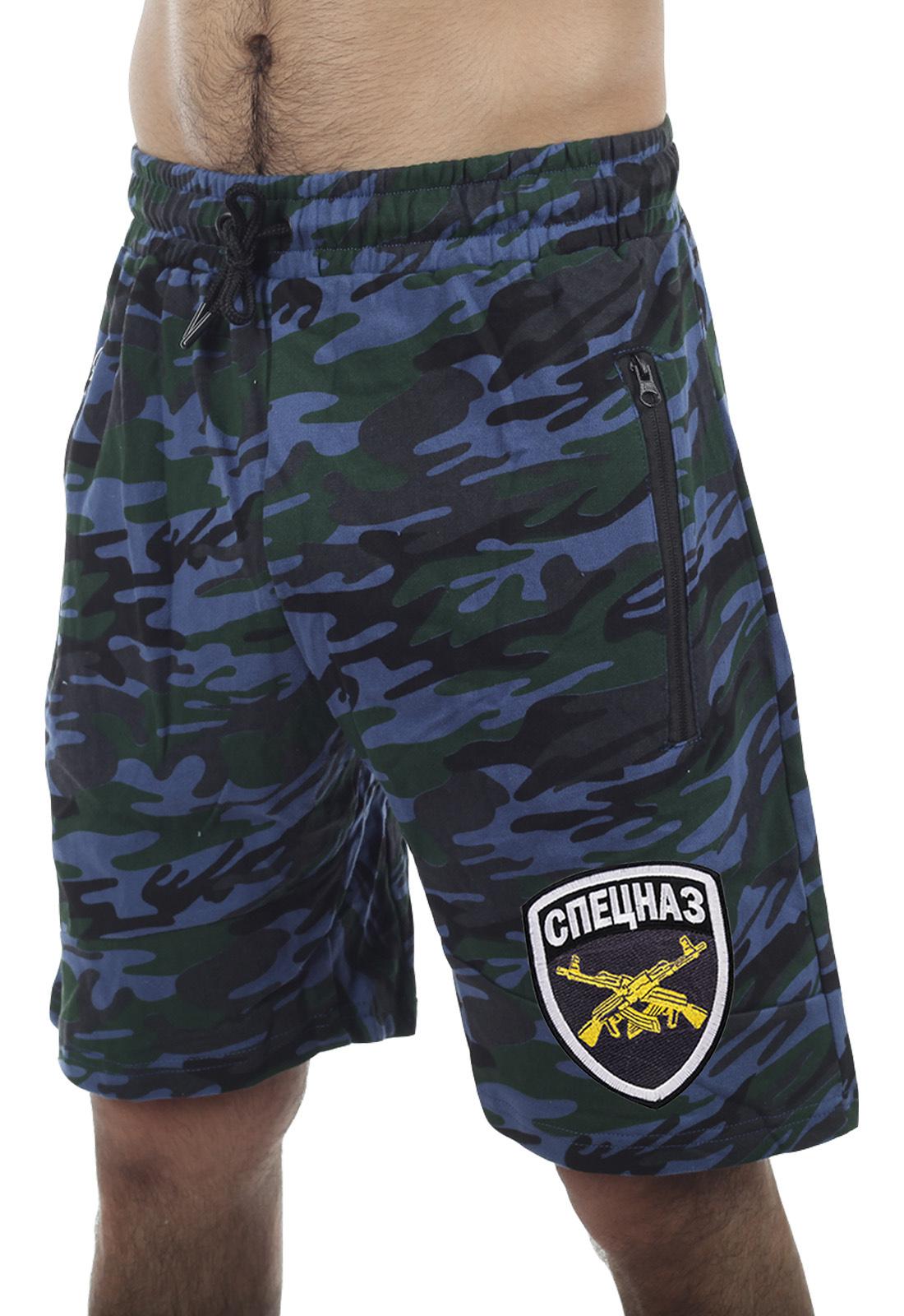 Мужские шорты до колен с символикой Спецназа