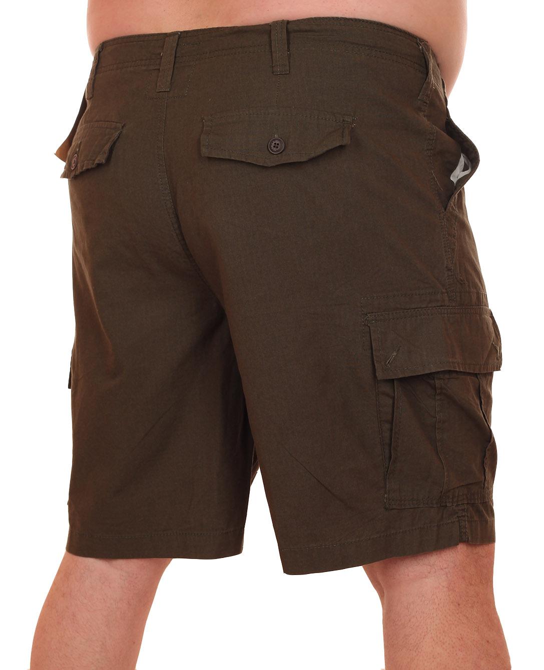 Заказать шорты цвета хаки для супер мужчин - баталы от Urban Pipeline