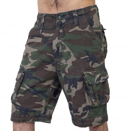 Мужские шорты Woodland general с карманами. Летний тренд Brandit.