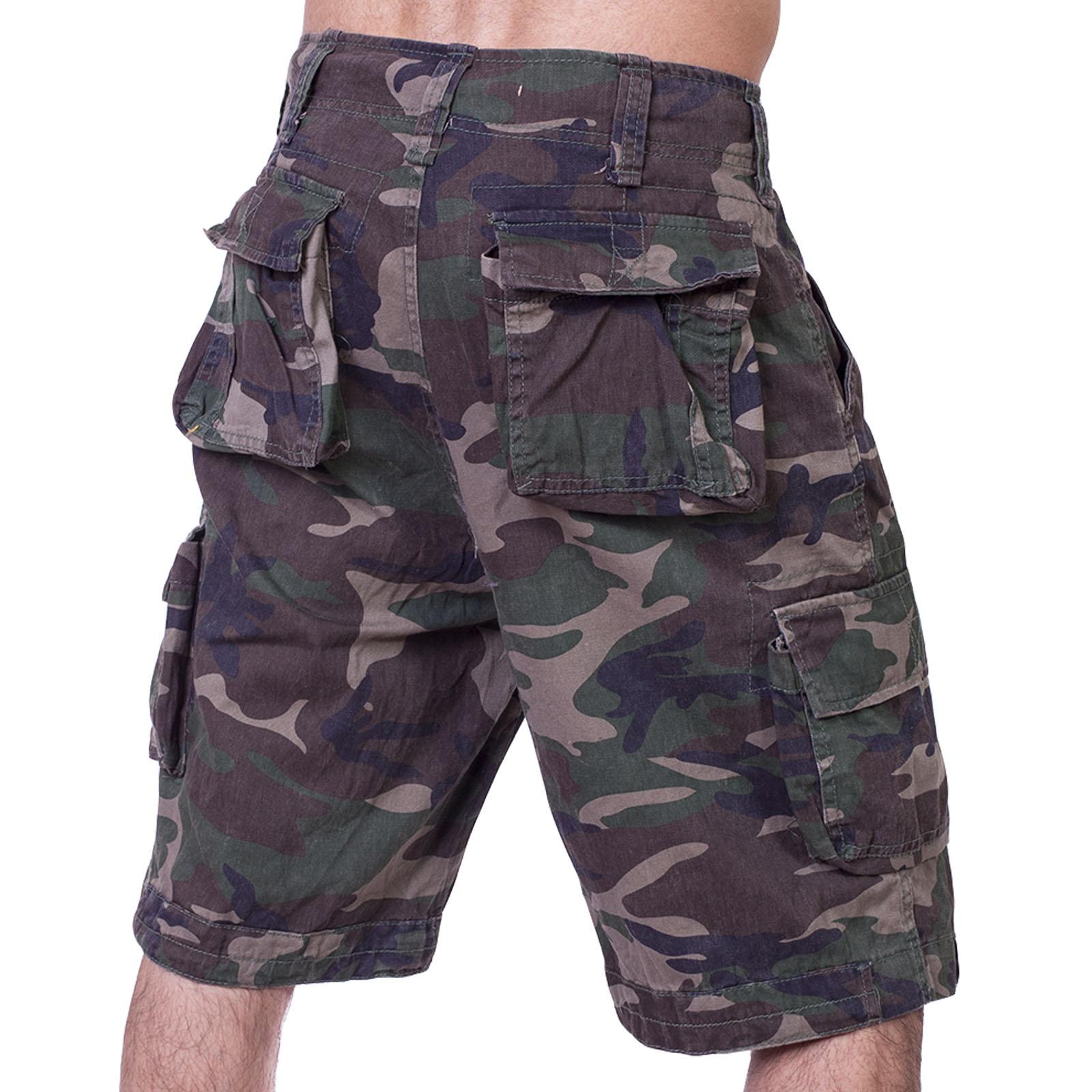 Летние шорты для мужчин в камуфляжной расцветке