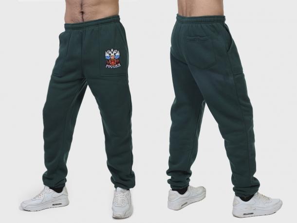 Мужские штаны РОССИЯ с флисовой подкладкой.