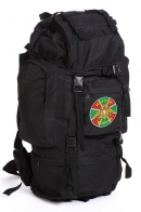 Штурмовой черный рюкзак с эмблемой Погранвойск