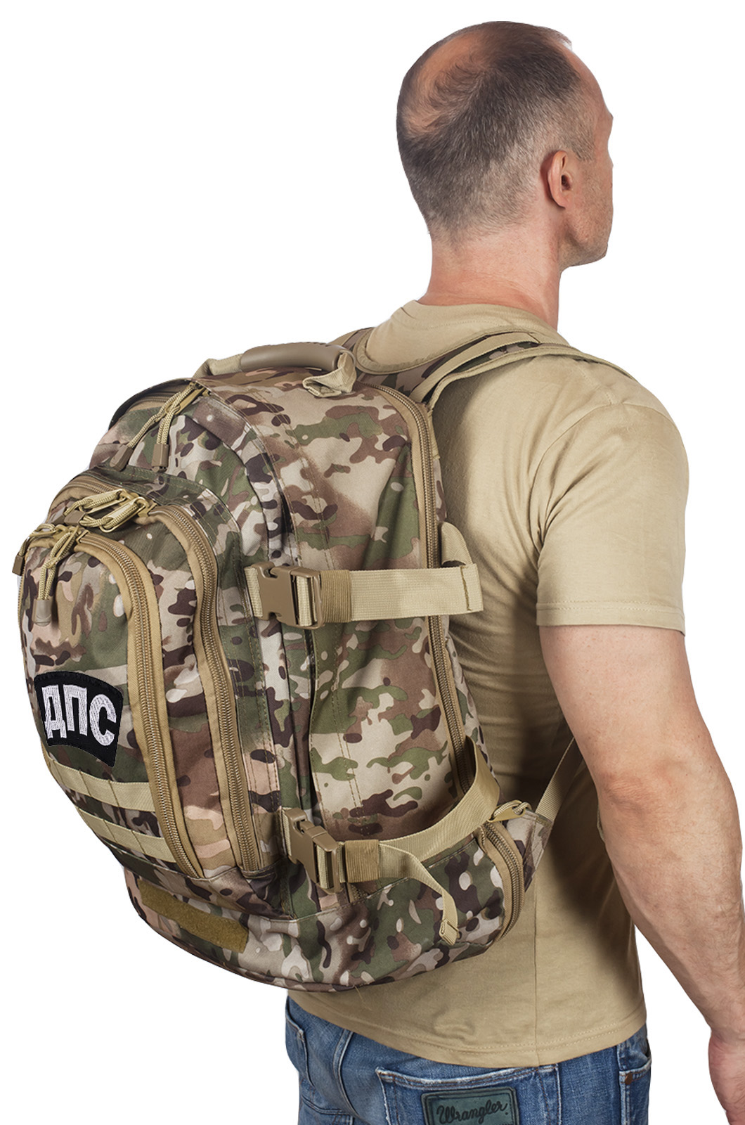 Штурмовой мужской рюкзак с нашивкой ДПС - купить со скидкой