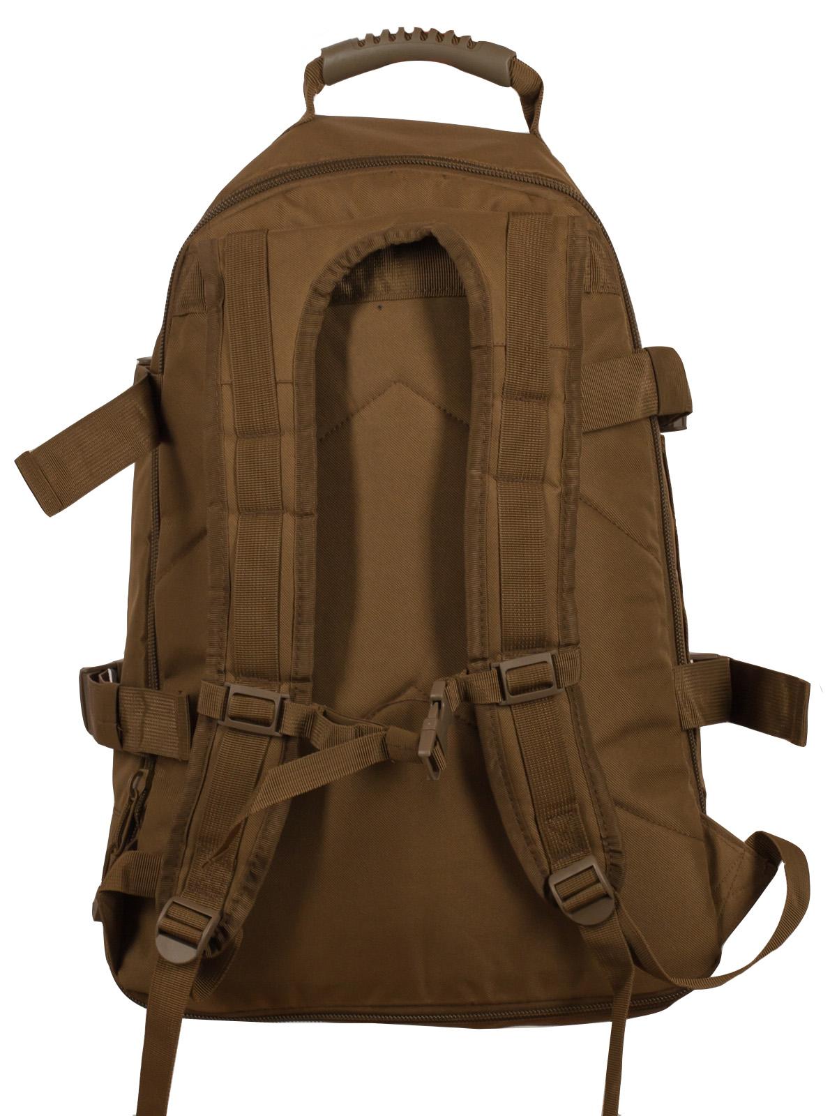 Купить штурмовой надежный рюкзак с нашивкой Охотничий Спецназ оптом выгодно