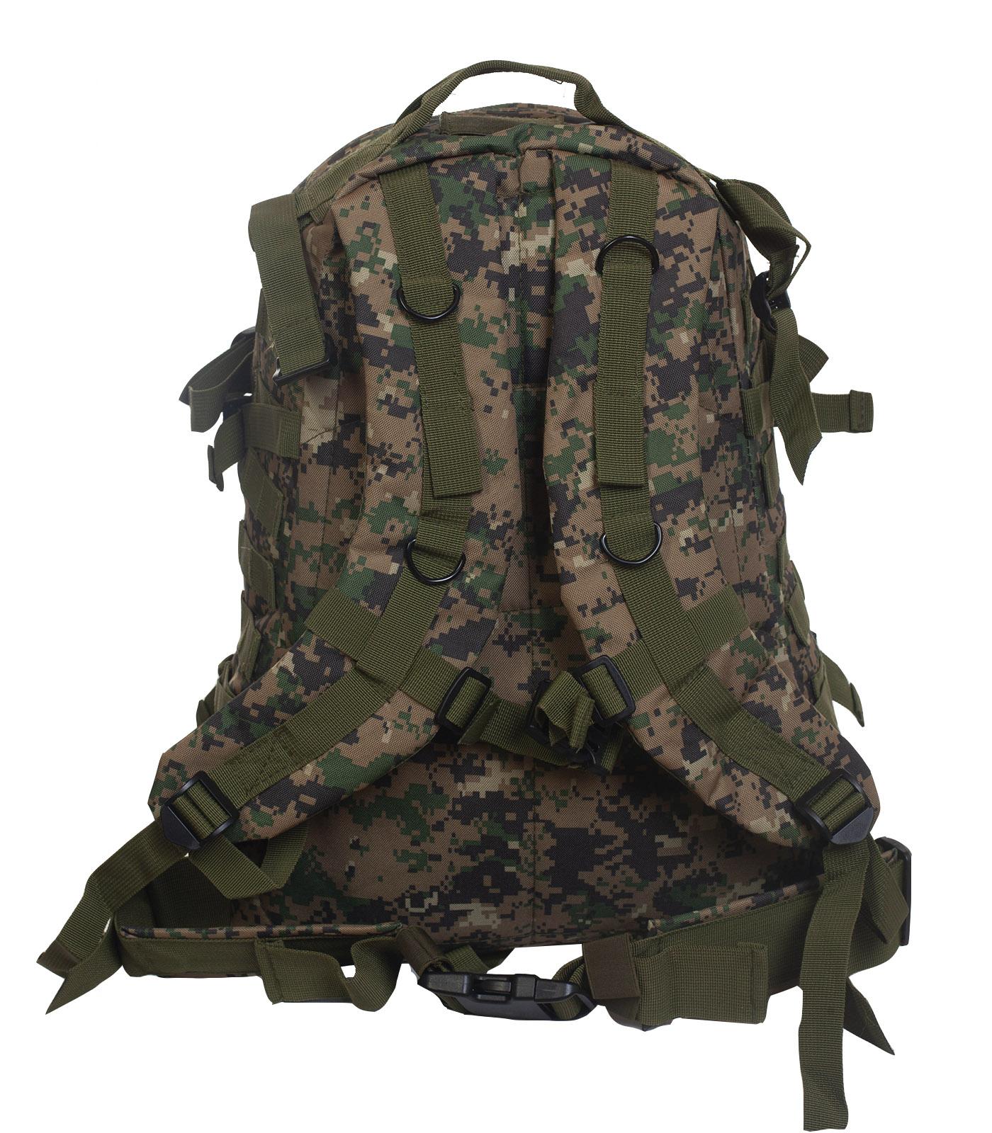 Штурмовой рюкзак камуфляжа Digital Woodland - оптом и в розницу