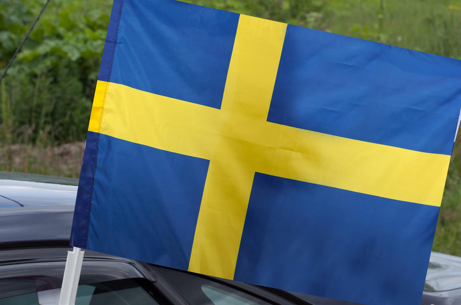 Шведский флаг на машину