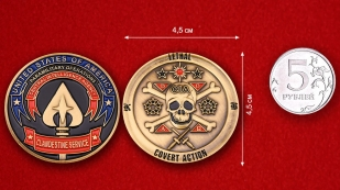 СIA Clandestine Servise Challenge Coin - comparative size