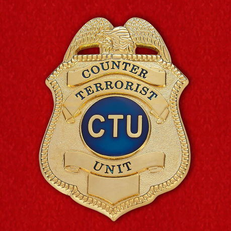 Badge member of the Counter-Terrorism Unit