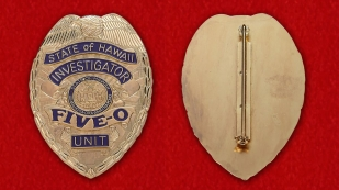 Badge investigator Hawaii - obverse and reverse