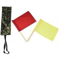 Сигнальные флажки регулировщика колонны техники (красный и желтый) в чехле цифра