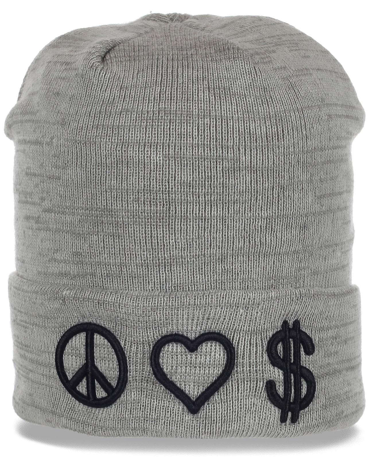 Симпатичная женская шапка модного дизайна. Подходит для любого типа лица и надежно защищает от холода. Заказывай скорее!