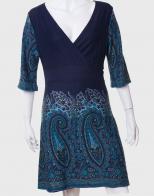 Симпатичное оригинальное платье с большим запахом