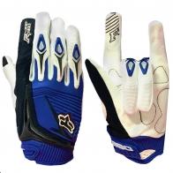 Сине-белые чопперские перчатки от Clarino