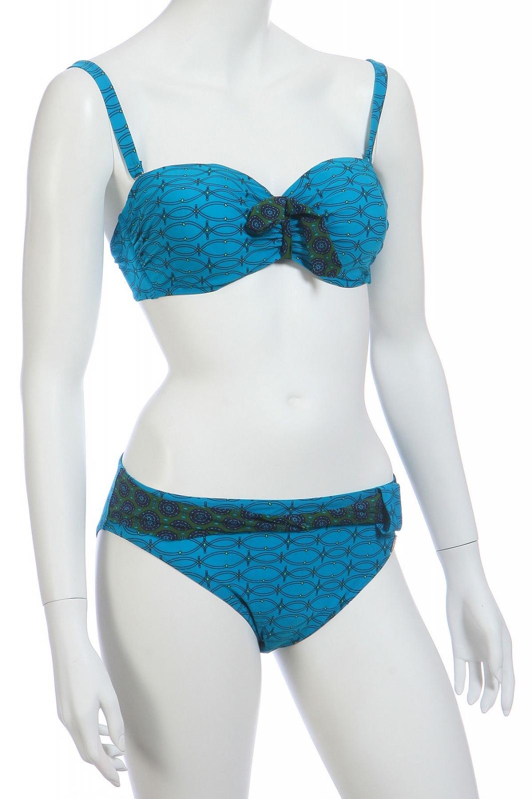 Сине-голубой купальник
