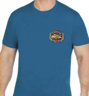 Сине-зеленая хлопковая футболка Рыбак