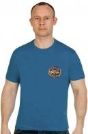 Сине-зеленая хлопковая футболка Рыбак - купить в подарок