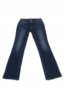 Синие женские джинсы VERO MODA с легким клёшем.